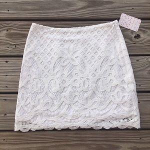 Free People White Dreamy Days Mini Skirt